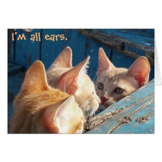 """Cartão Gatinhos alaranjados do gato malhado """"eu sou"""