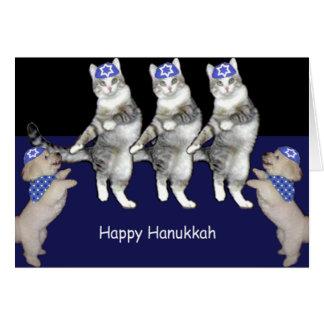 Cartão Gatinhos de Hanukkah da dança