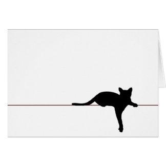"""Cartão """"Gato """""""