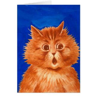 Cartão Gato alaranjado surpreendido Wain de Louis