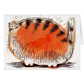 Cartão gato alaranjado whacky dos desenhos animados