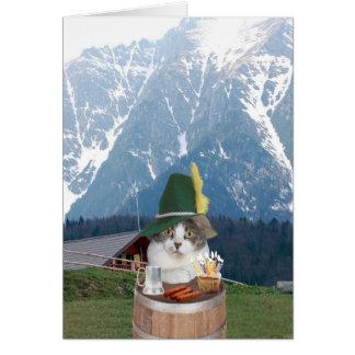 Cartão Gato alemão engraçado customizável/gatinho