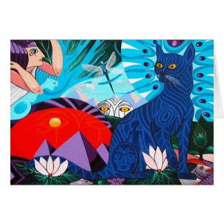 Cartão Gato antigo por Gregory Gallo