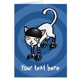 Cartão Gato branco no modelo customisable dos
