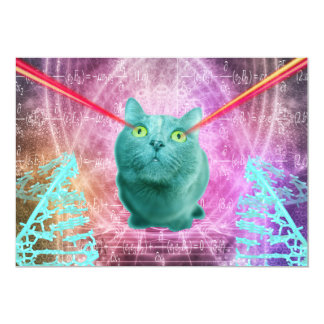 Cartão Gato com olhos do laser