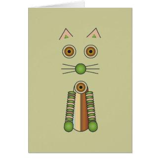 Cartão Gato da floresta