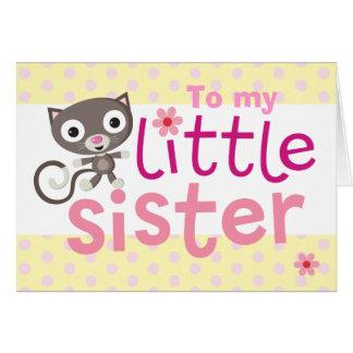 Cartão gato da irmã mais nova
