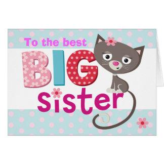 Cartão Gato da irmã mais velha