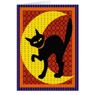 Cartão Gato da lua