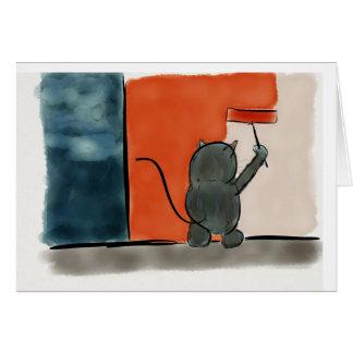 Cartão Gato da pintura