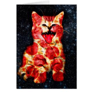 Cartão gato da pizza - gatinho - gatinho