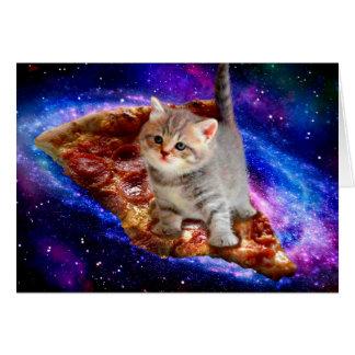 Cartão gato da pizza - gatos bonitos - gatinho - gatinhos