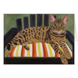 Cartão Gato de Bengal