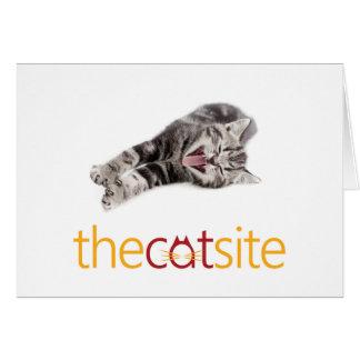 Cartão Gato de bocejo ou de riso