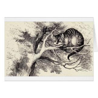 Cartão Gato de Cheshire