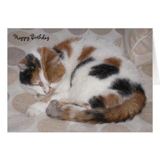 Cartão Gato de chita personalizado ondulado acima do
