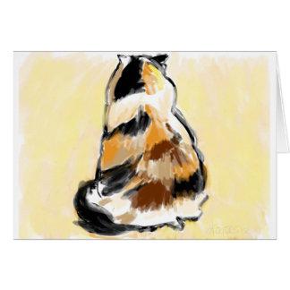 Cartão Gato de chita visto da parte traseira
