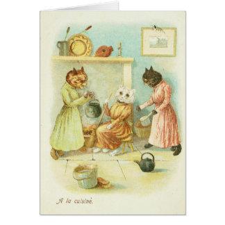 Cartão Gato de Cinderella