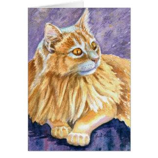 Cartão Gato de creme do angora