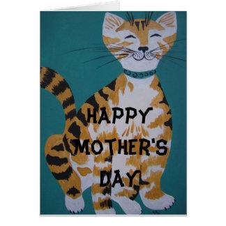 Cartão Gato de gato malhado