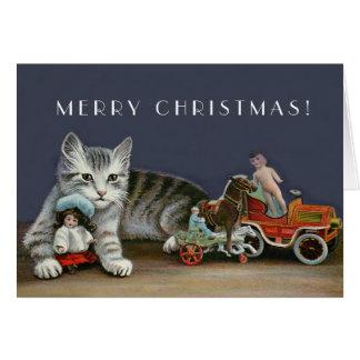 Cartão Gato de gato malhado de prata - arte do gato do