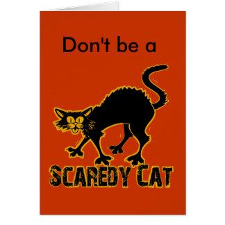 Cartão Gato de Scaredy