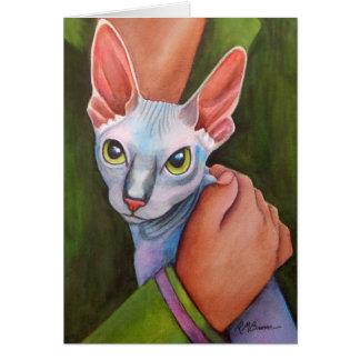 Cartão Gato de Sphynx