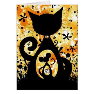 Cartão gato do Biscoito-tambor