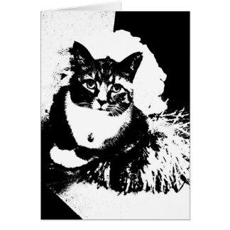 Cartão Gato do cheerleader mim pom do pom do haz!