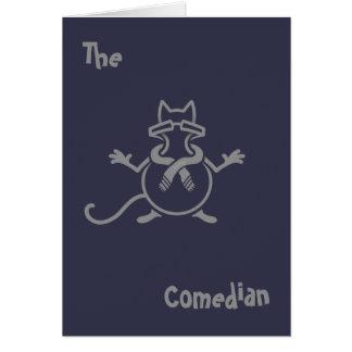 Cartão Gato do comediante