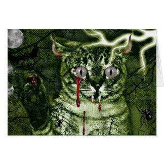 Cartão Gato do Dia das Bruxas