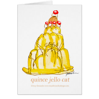 Cartão gato do jello do marmelo dos fernandes tony