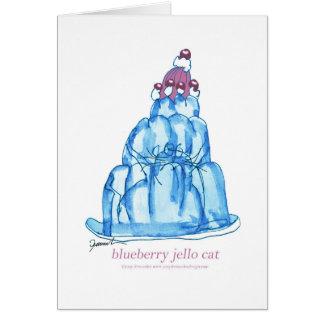 Cartão gato do jello do mirtilo dos fernandes tony
