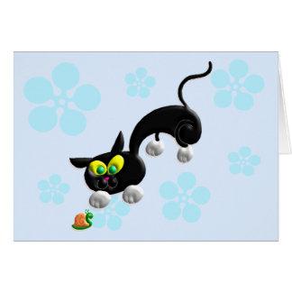 Cartão Gato do modo do ataque