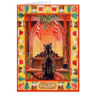 Cartão Gato do Natal