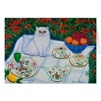 Cartão Gato do piquenique
