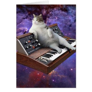 Cartão gato do teclado - memes do gato - gato louco