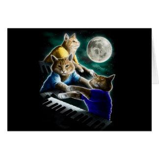 Cartão gato do teclado - música do gato - memes do gato