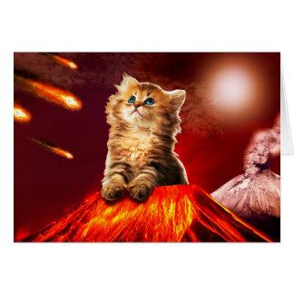 Cartão gato do vulcão, gato vulcan,