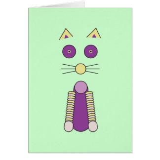 Cartão Gato doce