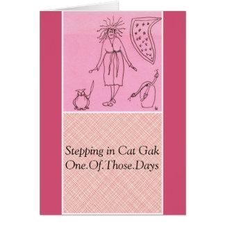 Cartão Gato engraçado Gak da deusa