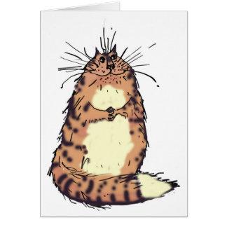 Cartão Gato feliz