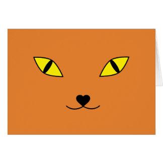 Cartão Gato feliz da cara