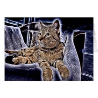 Cartão Gato malhado bonito