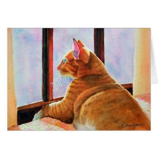 Cartão Gato malhado da laranja de Gladys