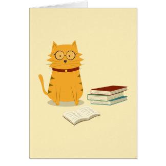 Cartão Gato Nerdy
