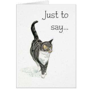 Cartão Gato Notecard - apenas para dizer…
