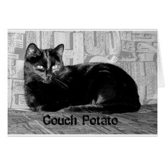 """Cartão Gato preto do """"viciado em televisão"""""""