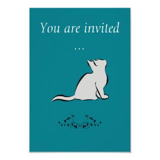 Cartão Gato preto, suficiência cinzenta