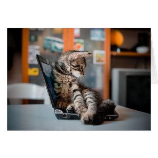 Cartão Gato que encontra-se no caderno